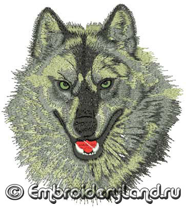 Embroidery-Wolf