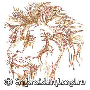 Embroidery-Lion